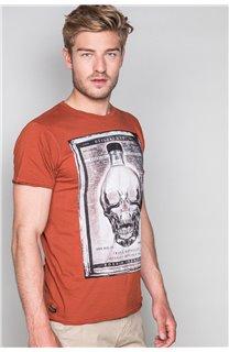 T-Shirt T-SHIRT CRYSTAL Homme P184 (46195) - DEELUXE