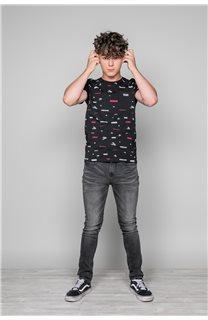 T-Shirt T-Shirt GRANO Garçon W19112B (46262) - DEELUXE