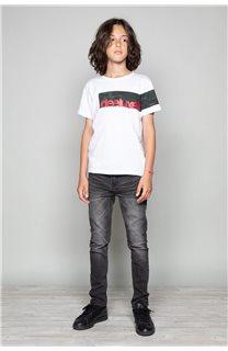 T-Shirt GABLES Garçon W19119B (46277) - DEELUXE