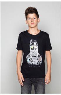 T-Shirt TELLIER Garçon W19156B (46283) - DEELUXE