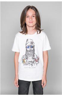 T-Shirt TELLIER Garçon W19156B (46286) - DEELUXE
