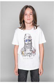 T-Shirt TELLIER Garçon W19156B (46288) - DEELUXE