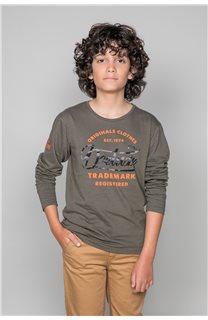 T-Shirt FUJI Garçon W191105B (46363) - DEELUXE