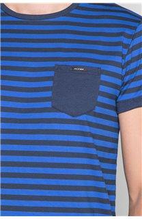 T-Shirt T-SHIRT RANDSTAK Homme W19102 (46450) - DEELUXE