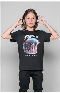 T-Shirt NIGHTCALL Garçon W19158B (46471) - DEELUXE