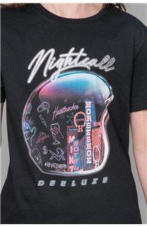 T-Shirt NIGHTCALL Garçon W19158B (46475) - DEELUXE