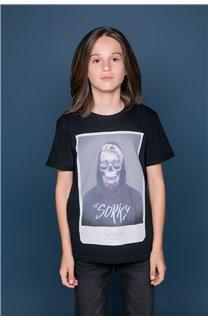 T-Shirt JUST Garçon W19189B (46613) - DEELUXE