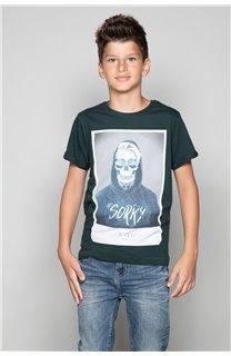 T-Shirt JUST Garçon W19189B (46618) - DEELUXE