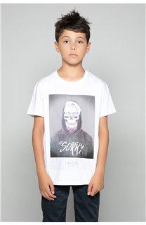 T-Shirt JUST Garçon W19189B (46628) - DEELUXE