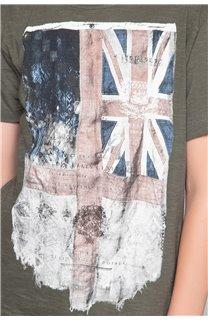 T-Shirt FLAGY Garçon W191110B (46640) - DEELUXE