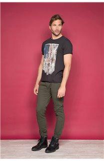 T-Shirt T-SHIRT FLAGY Homme W191110 (46712) - DEELUXE