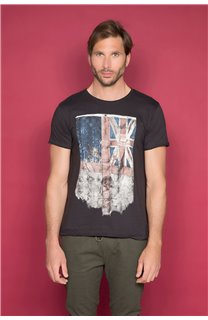 T-Shirt T-SHIRT FLAGY Homme W191110 (46713) - DEELUXE