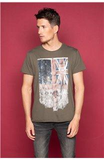 T-Shirt T-SHIRT FLAGY Homme W191110 (46716) - DEELUXE