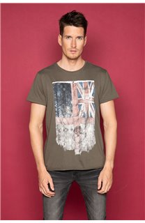 T-Shirt T-SHIRT FLAGY Homme W191110 (46718) - DEELUXE