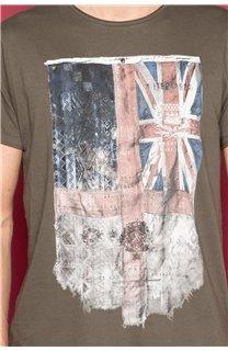 T-Shirt T-SHIRT FLAGY Homme W191110 (46720) - DEELUXE