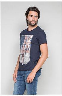 T-Shirt T-SHIRT FLAGY Homme W191110 (46721) - DEELUXE