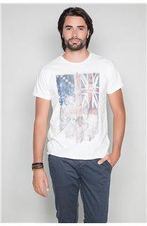 T-Shirt T-SHIRT FLAGY Homme W191110 (46728) - DEELUXE