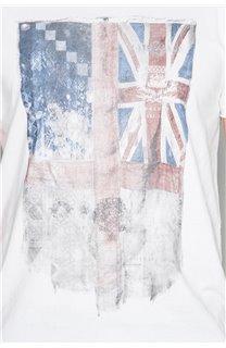 T-Shirt T-SHIRT FLAGY Homme W191110 (46730) - DEELUXE