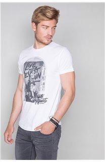 T-Shirt T-SHIRT BADASS Homme W19181 (47127) - DEELUXE