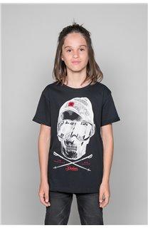 T-Shirt T-SHIRT LANDY Garçon W19126B (47199) - DEELUXE