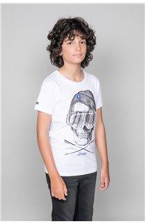T-Shirt T-SHIRT LANDY Garçon W19126B (47202) - DEELUXE