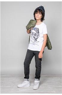 T-Shirt T-SHIRT LANDY Garçon W19126B (47203) - DEELUXE