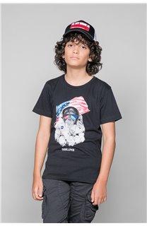 T-Shirt T-Shirt ASTOMONK Garçon W19179B (47207) - DEELUXE