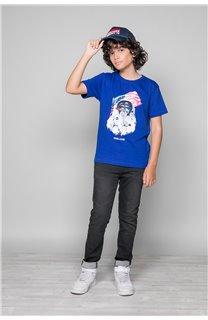 T-Shirt T-Shirt ASTOMONK Garçon W19179B (47213) - DEELUXE