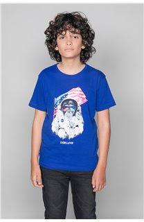 T-Shirt T-Shirt ASTOMONK Garçon W19179B (47214) - DEELUXE