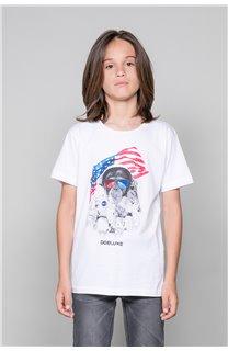 T-Shirt T-Shirt ASTOMONK Garçon W19179B (47217) - DEELUXE