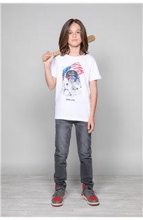 T-Shirt T-Shirt ASTOMONK Garçon W19179B (47218) - DEELUXE