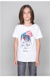T-Shirt T-Shirt ASTOMONK Garçon W19179B (47219) - DEELUXE