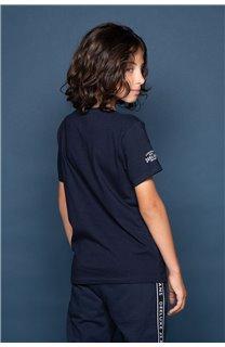 T-Shirt T-Shirt ALEC Garçon W191104B (47230) - DEELUXE