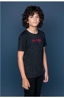 T-Shirt T-Shirt GALAXIE Garçon W19143B (47242) - DEELUXE