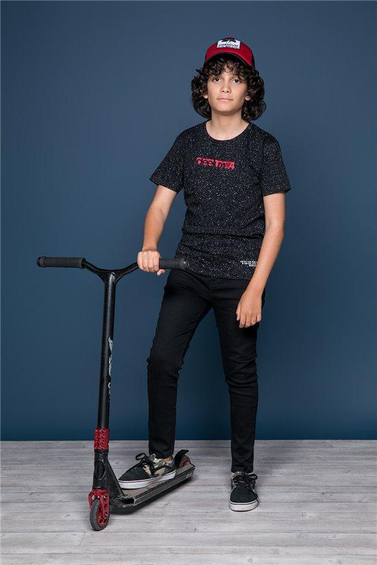 T-Shirt GALAXIE Garçon W19143B (47242) - DEELUXE