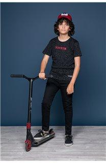 T-Shirt T-Shirt GALAXIE Garçon W19143B (47243) - DEELUXE