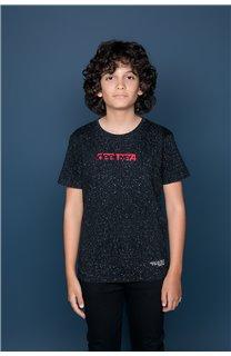 T-Shirt T-Shirt GALAXIE Garçon W19143B (47244) - DEELUXE