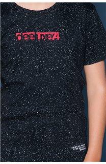 T-Shirt T-Shirt GALAXIE Garçon W19143B (47246) - DEELUXE