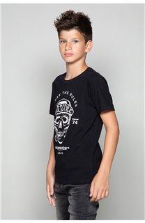 T-Shirt T-Shirt INGENIOUS Garçon W191111B (47247) - DEELUXE