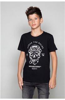 T-Shirt T-Shirt INGENIOUS Garçon W191111B (47249) - DEELUXE