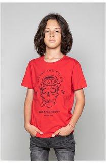 T-Shirt T-Shirt INGENIOUS Garçon W191111B (47252) - DEELUXE
