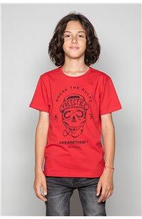 T-Shirt T-Shirt INGENIOUS Garçon W191111B (47254) - DEELUXE