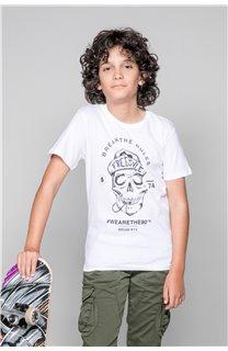 T-Shirt T-Shirt INGENIOUS Garçon W191111B (47257) - DEELUXE