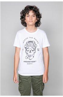 T-Shirt T-Shirt INGENIOUS Garçon W191111B (47259) - DEELUXE