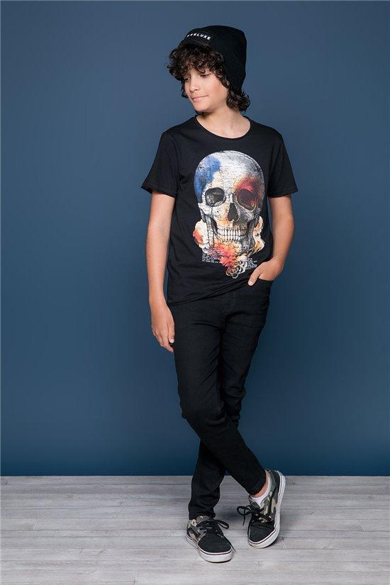 T-Shirt T-SHIRT JACKY Garçon W19152B (47262) - DEELUXE