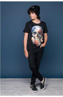 T-Shirt T-SHIRT JACKY Garçon W19152B (47263) - DEELUXE