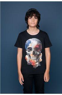 T-Shirt T-SHIRT JACKY Garçon W19152B (47264) - DEELUXE
