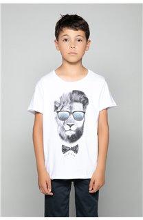 T-Shirt T-Shirt LIONMAN Garçon W18135B (47455) - DEELUXE