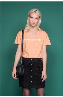 T-Shirt T-Shirt TECA Femme W19111W (47570) - DEELUXE