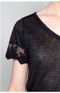 T-Shirt T-Shirt DIVINE Femme W19122W (47660) - DEELUXE